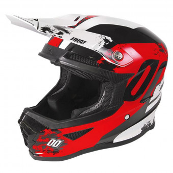 Casque Cross SHOT Furious Shadow Red White Kid
