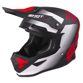 Casque Cross SHOT Furious Trust Black Red Matt
