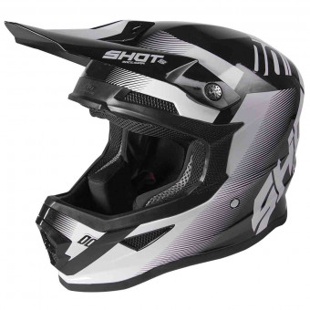 Casque Cross SHOT Furious Trust Black White