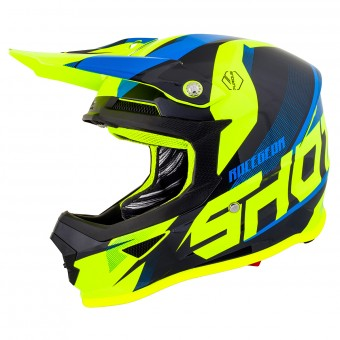 Casque Cross SHOT Furious Ultimate Bleu Jaune