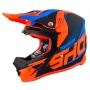 Casque Cross SHOT Furious Ultimate Bleu Neon Orange Matt