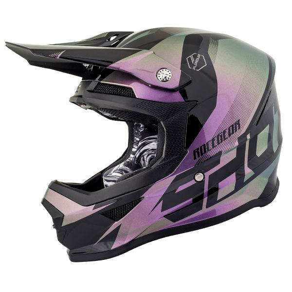 Casque Cross SHOT Furious Ultimate Chameleon