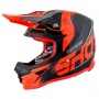 Casque Cross SHOT Furious Ultimate Noir Neon Orange