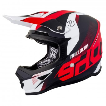 Casque Cross SHOT Furious Ultimate Rouge Matt