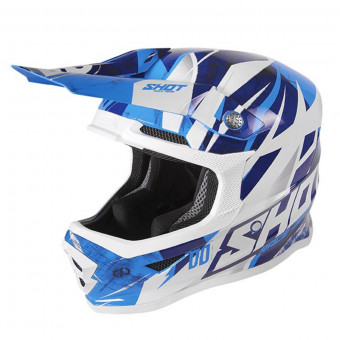 Casque Cross SHOT Furious Ventury Cyan Dark Blue White Kid
