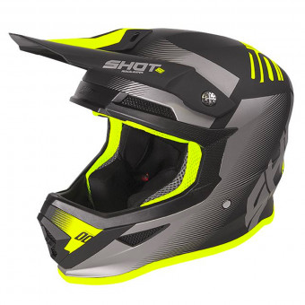 Casque Cross SHOT Furious Trust Black Neon Yellow Matt