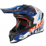 Casque Cross SHOT Lite Rush Blue Orange