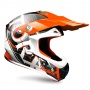 Casque Cross Torx Marvin 3 Eyes Neon Orange Gris
