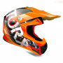 Casque Cross Torx Marvin 3 Eyes Neon Orange Red Matt