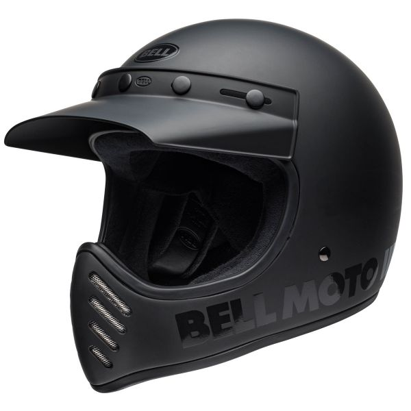 Casque Cross Bell Moto-3 Blackout Black