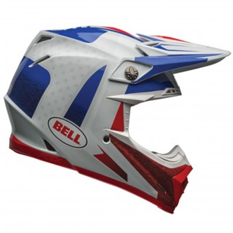 Casque Cross Bell Moto-9 Flex Carbon Vice Blue Red