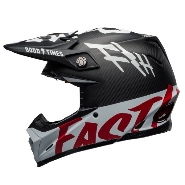 Bell Moto-9 Flex Fasthouse WRWF Black White Red