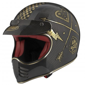 Casque Cross Premier Mx Carbon NX Gold Chromed
