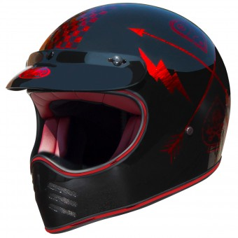 Casque Cross Premier MX NX Red Chromed