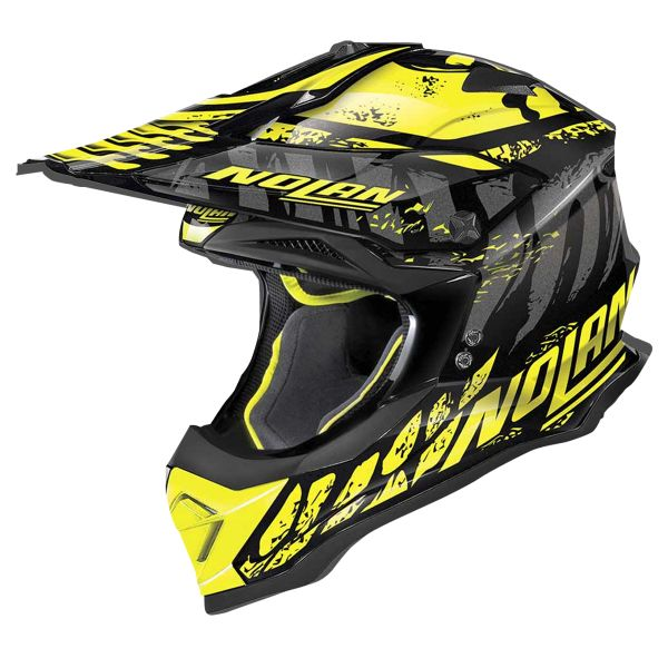 Casque Cross Nolan N53 Buccaneer Glossy Black Yellow 53