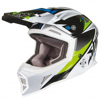 Casque Cross SHOT Striker Maroon Vert Bleu
