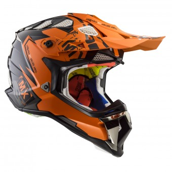 Casque Cross LS2 Subverter Emperor Black Orange MX470
