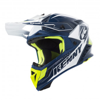 Casque Cross Kenny Trophy Navy White