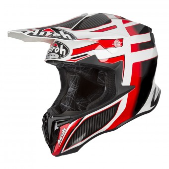 Casque Cross Airoh Twist Shading Rouge