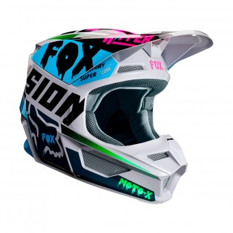 Casque Cross FOX V1 Czar Gris Clair