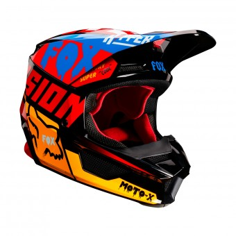 Casque Cross FOX V1 Czar Noir Jaune