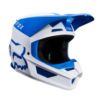Casque Cross FOX V1 Mata Bleu Blanc