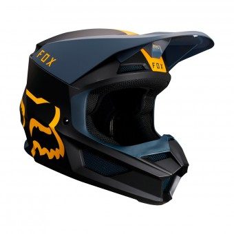 Casque Cross FOX V1 Mata Navy Jaune