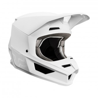Casque Cross FOX V1 Matte Blanc
