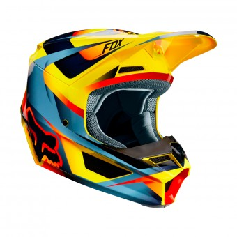 Casque Cross FOX V1 Motif Jaune