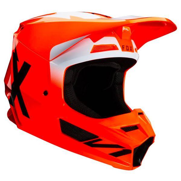 Casque Cross FOX V1 Werd Fluo Orange
