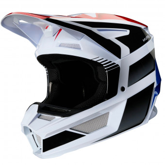 Casque Cross FOX V2 Hayl Blue Red