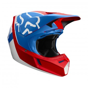 Casque Cross FOX V3 Kila Bleu Rouge