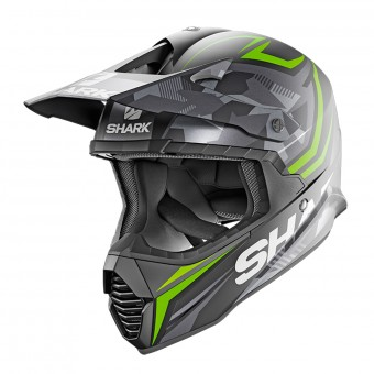 Casque Cross Shark Varial Replica Tixier Mat KGA