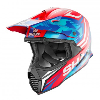 Casque Cross Shark Varial Replica Tixier Mat RWB