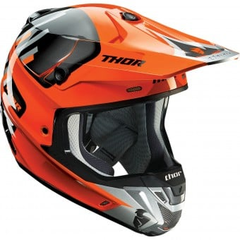 Casque Cross Thor Verge Vortechs Flo Orange Grey