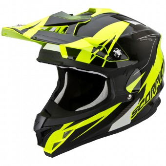 Casque Cross Scorpion VX-15 Evo Air Krush Neon Yellow Black