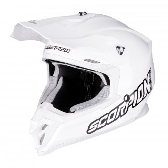 Casque Cross Scorpion VX-16 Air Blanc