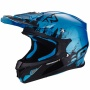 Casque Cross Scorpion VX-21 Air Mudirt Black Sky Blue