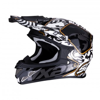 Casque Cross Scorpion VX-21 Gnarly Noir Blanc