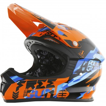 Casque Cross Freegun XP-4 Honor Orange Blue
