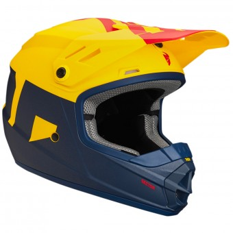 Casque Enfant Thor Sector Level Navy Yellow Enfant