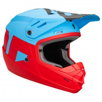 Casque Enfant Thor Sector Level Powder Blue Red Enfant