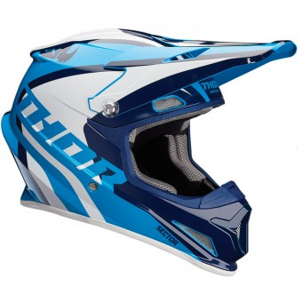Casque Enfant Thor Sector Ricochet Navy Blue White Enfant