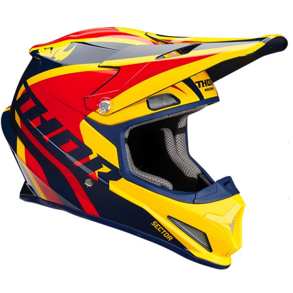 Casque Enfant Thor Sector Ricochet Navy Yellow Red Enfant
