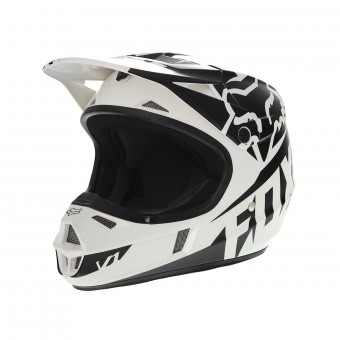 Casque Enfant FOX V1 Race Black White Enfant