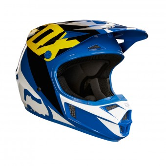 Casque Enfant FOX V1 Race Blue White Enfant