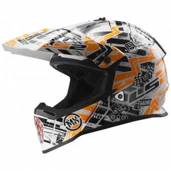 Casque Enfant LS2 Fast Mini Glitch Orange MX437J