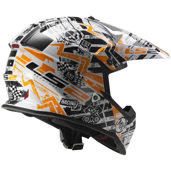 LS2 Fast Mini Glitch Orange MX437J
