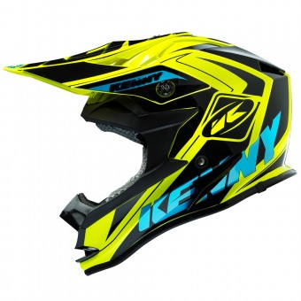 Casque Enfant Kenny Performance Yellow Fluo Cyan Kid