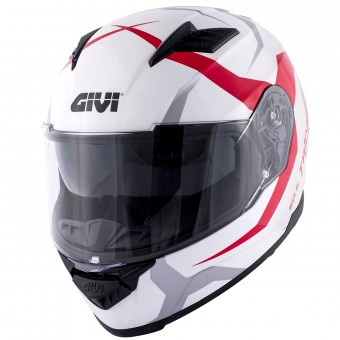 Casque Integral Givi 50.5 Tridion Vortix White Red